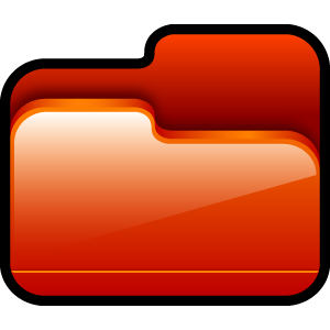 red, folder, open icon