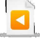 paper, document, orange, file icon