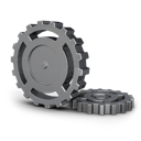 wheel, cog, gear icon
