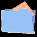 Alt, Blue, Folder, Mail icon