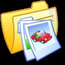 Folder Yellow Pics 2 icon
