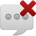 delete text message icon