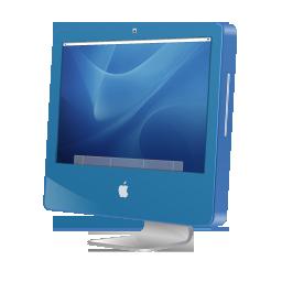 aqua, imac, blue icon