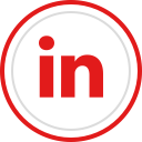 linkedin, logo, brand, social, media icon