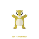 pokemon, ground, kanto, sandshrew icon