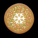 christmas cookie round icon