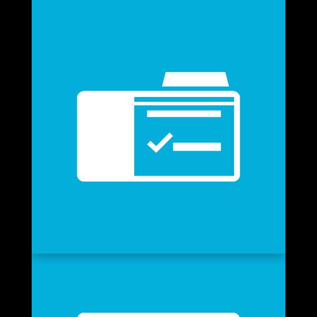 option, folder, mirror icon