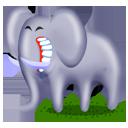 cartoon, elephant, animal icon