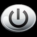 silver, shut, down icon