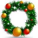 Christmas, Decoration, Ornament, Wreath icon
