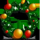 decoration, ornament, wreath, christmas icon