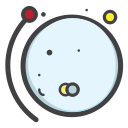 pluto, space, univearse, planet, telestial icon