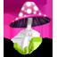 Mushroom, Pink icon