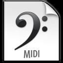 file, paper, midi, document icon