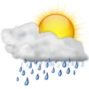 Status weather showers day icon