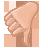 fall, down, descending, vote, descend, download, decrease, hand, thumb icon