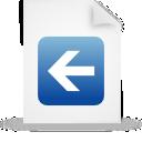 paper, file, blue, document icon