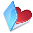 favorits, folder, blue icon