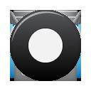 Black, Button, Rec icon