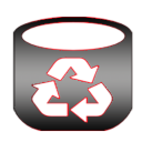Empty recycle bin icon