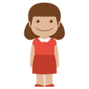 child, kid, person, red, female, avatar, girl icon
