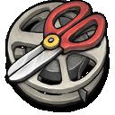 film,reel,cutting icon