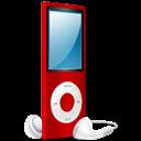 Ipod, Nano, On, Red icon