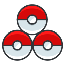pokeballs, go, play, game, pokemon icon