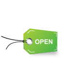 tag open icon