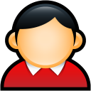 people, human, coat, user, red, profile, account icon
