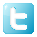 social twitter box blue icon