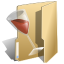 wine, folder, alcohol icon