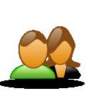 Female, Forum, Male, Users icon