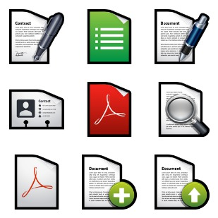 Documents icon sets preview