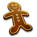 anders madsen, christmas, food, cake, gingerbread, man icon