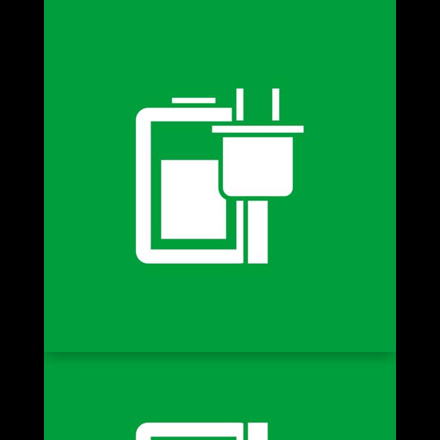 mirror, option, power icon