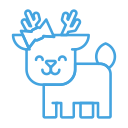 reindeer, smile, forest, animal, deer, happy icon