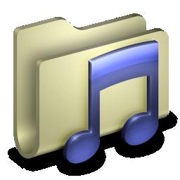 music, itunes, folder icon
