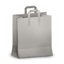 paperbag, grey icon