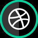 dribbble, media, social, online, logo icon