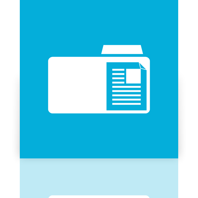 document, mirror, folder icon