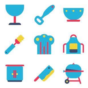 kitchen icon sets preview
