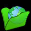 Folder, Green, Internet icon
