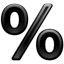 %, kpercentage icon