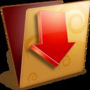 golden,download,folder icon