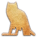 owl, embossed icon