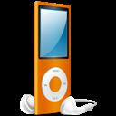 Ipod, Nano, On, Orange icon