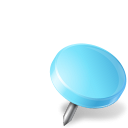 drawingpin, azure, right, mapmarker icon