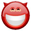 devil, grin, face icon