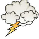 Lightning, Storm, Weather icon